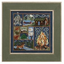 MILL HILL Buttons Beads Kit Counted Cross Stitch CABIN FEVER MH14-0205