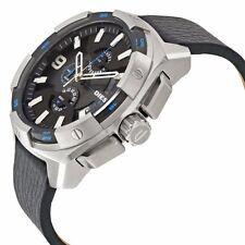Diesel Uhr DZ4392 Herren Schwarz Leder Band Chronograph  NEU !