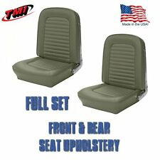 1964 & 1965-Mustang Fastback Seat Upholstery Ivy Gold-Front & Rear IN STOCK!!