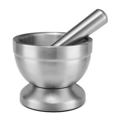 Stainless Steel Mortar and Pestle Set Solid Grinder Bowl Guacamole Herbs Spice