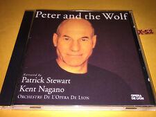 PATRICK STEWART cd PETER AND THE WOLF prokofiev kent nagano debussy TOY BOX