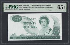 New Zealand 20 Dollars 1981 UNC (pick. 173app1) Green Proof PMG-65 EPQ