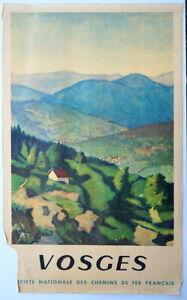 Vosges Originalplakat der französischen Eisenbahngesellschaft SNCF von 1947