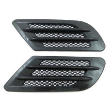 Car Decor Side Air Flow Vent Fender Hole Cover Simulation Intake Grille Sticker-