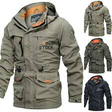 Mens Winter Hooded Hoodie Jacket Tactical Combat Hiking Coat Tops Outdoor Sport