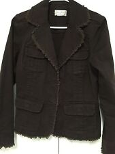 Womens Juniors Live a Little Brown Blazer Jacket Sz S Small? No Size Tag VGUC