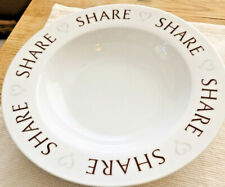New listing Pampered Chef Share Bowl 2015 Cereal Fruit Feeding Families Round-Up White