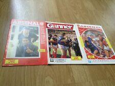 Arsenal vs Liverpool match programmes from 1987 amd 1990