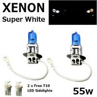 H3 55w SUPER WHITE XENON (453) Upgrade Fog Light Bulbs 12v