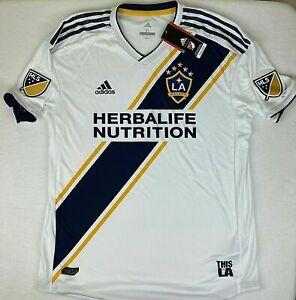 Mens Adidas MLS LA Galaxy Herbalife Nutrition Soccer Jersey White NWT