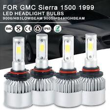 Car LED Headlight Bulbs Kit 9005 9006 High Low Beam For GMC Sierra1500 1999