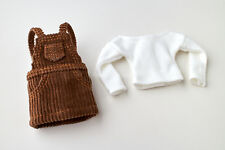 Neo Blythe, Licca Doll Outfits Clothes Brown Jumper Skirt & Wide Neck T-Shirt
