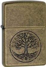 Zippo 29149, Tree of Life, Antique Brass Finish Lighter,  Full Size