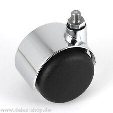 Möbelrolle 50 mm USM Haller Rolle Weichbodenrolle Chrom ohne Bremse Lenkrolle