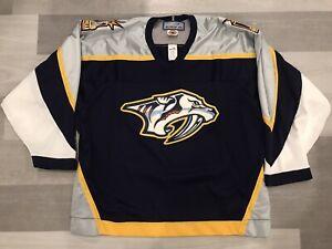 1st Year Bauer Nashville Predators Blue NHL Hockey Jersey Size Large