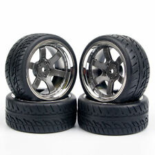 4Pcs Tires tyre&Wheel 12mm Hex For HPI HSP 1:10 On Road Racing Car Kforce Racing