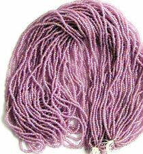 Lavendar Purple Pewter Hues Vintage Round Frost Glass Seed Beads BOGO! (7013610)