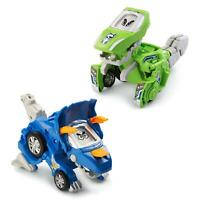 Switch & Go Dinos 2-Pack Blue Triceratops Green T-Rex Vtech CHOP