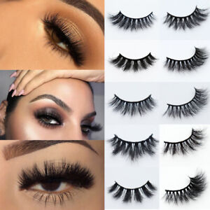 UK 5 Pairs Fake Eyelashes Long Thick Natural False Eye Lash Set Mink MIX Makeup