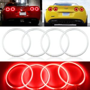 For 2005-2013 Chevrolet Corvette C6 Coupe CCFL Angel Eye Brake Tail Lights Pair