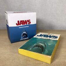 Jaws Drain Stopper Figure Blue 44th Anniversary Spielberg 2019 Universal + Book