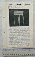 Vintage leaflet: Swedish Arkits Basketry - triangular flower stand, 65