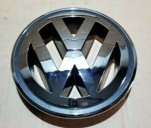 VW TIGUAN 5N FRONT BUMPER BONNET GRILLE CHROME VW LOGO BADGE 1K5853600 150mm