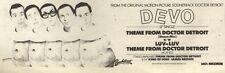 18/6/83PN14 ADVERT: DEVO SINGLE THEME FROM DOCTOR DETROIT 3X11