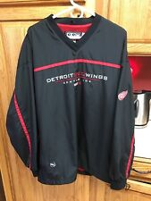 Detroit Red Wings NHL CCM Center Ice Pullover Windbreaker Jacket Sz XL