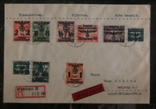 1940 Krakau GG Poland Germany Cover To Leipzig  Stamps 1937 Surcharge B