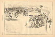 Political Cartoon, Uncle Sam, Wild West, Interstate Commission, Th. Nast, 1886
