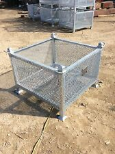 Heavy Duty Stackable Storage Bin With Lifting Lugs 3500 Lb Safe Working Load