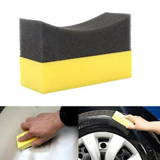 Auto Car U-Shape Tire Polishing Wax Sponge Edge Brush Car Tire Cleaning SpongeJC