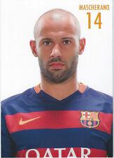 Postal postcard 14 MASCHERANO  jug.  FC BARCELONA 15/16