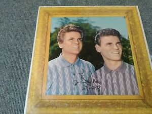 Everly Brothers vinyl records signed