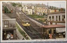 1912 Duluth, Minnesota, Incline Train Car from Superior Street, SALOON Postcard