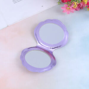 Sea Shell Shape Compact Cosmetic Mirror PU Leather Double Sided Makeup Magnifie)