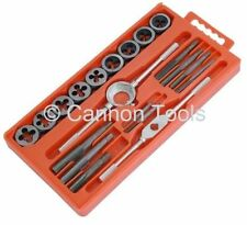 TAP AND DIE 20PC SET WRENCH METRIC CUTS M3-M12 BOLTS ENGINEERS KIT WARRANTY NEW