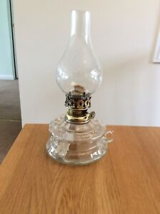 A Large Glass Hand Lamp.