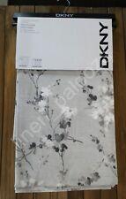 DKNY Gray Cherry Blossom WALLFLOWER Window Curtain Panel 50x84 PAIR 100% Cotton