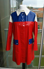 Rare Red Raincoat Regenmantel Rubber coat Gummimantel Latex Pvc. Vinyl Gummi