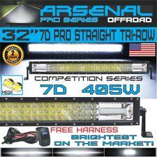 "32"" Pro Tri-Row Led Light Bar Straight 405w 40,500LM 7D Spot Flood Combo Beam"