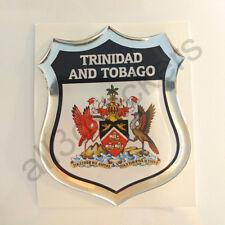 Pegatina Trinidad y Tobago Escudo de Armas 3D Emblema Vinilo Adhesivo Resina