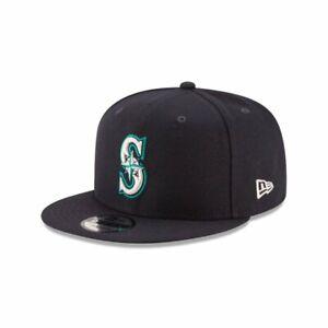 """Seattle Mariners MLB New Era """"Basic"""" 9FIFTY Snapback Hat - Blue"""