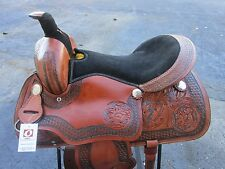 17 ROPING RANCH SHOW PLEASURE BARREL RACING RACER LEATHER WESTERN HORSE SADDLE
