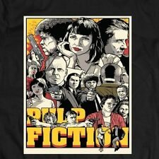 PULP FICTION ORIGINAL 90'S MOVIE OLDSKOOL T-Shirt **FULL FRONT OF SHIRT ARTWORK*