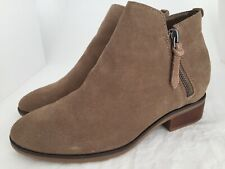 4323520ac15 STEVE MADDEN Arper Taupe Suede Zip Up Ankle Boots Size 7.5 M