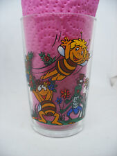TF1 Maya l'Abeille French drink glace verre à moutarde 1981 RARE