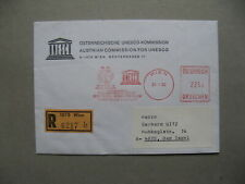 UNITED NATIONS VIENNA, R-cover to Germany 1992, meterstamp UNESCO