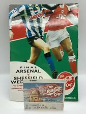 More details for rare arsenal v sheffield wednesday 1993 league cup final programme + ticket